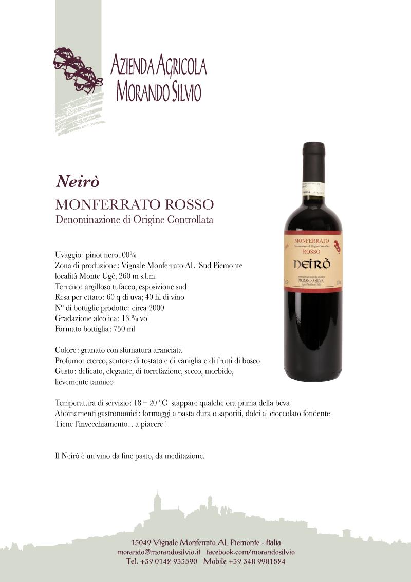"""Monferrato Rosso """"Neirò"""""""
