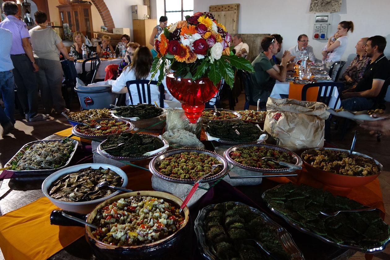 Festa del solstizio d'estate: buffet hors d'oeuvres