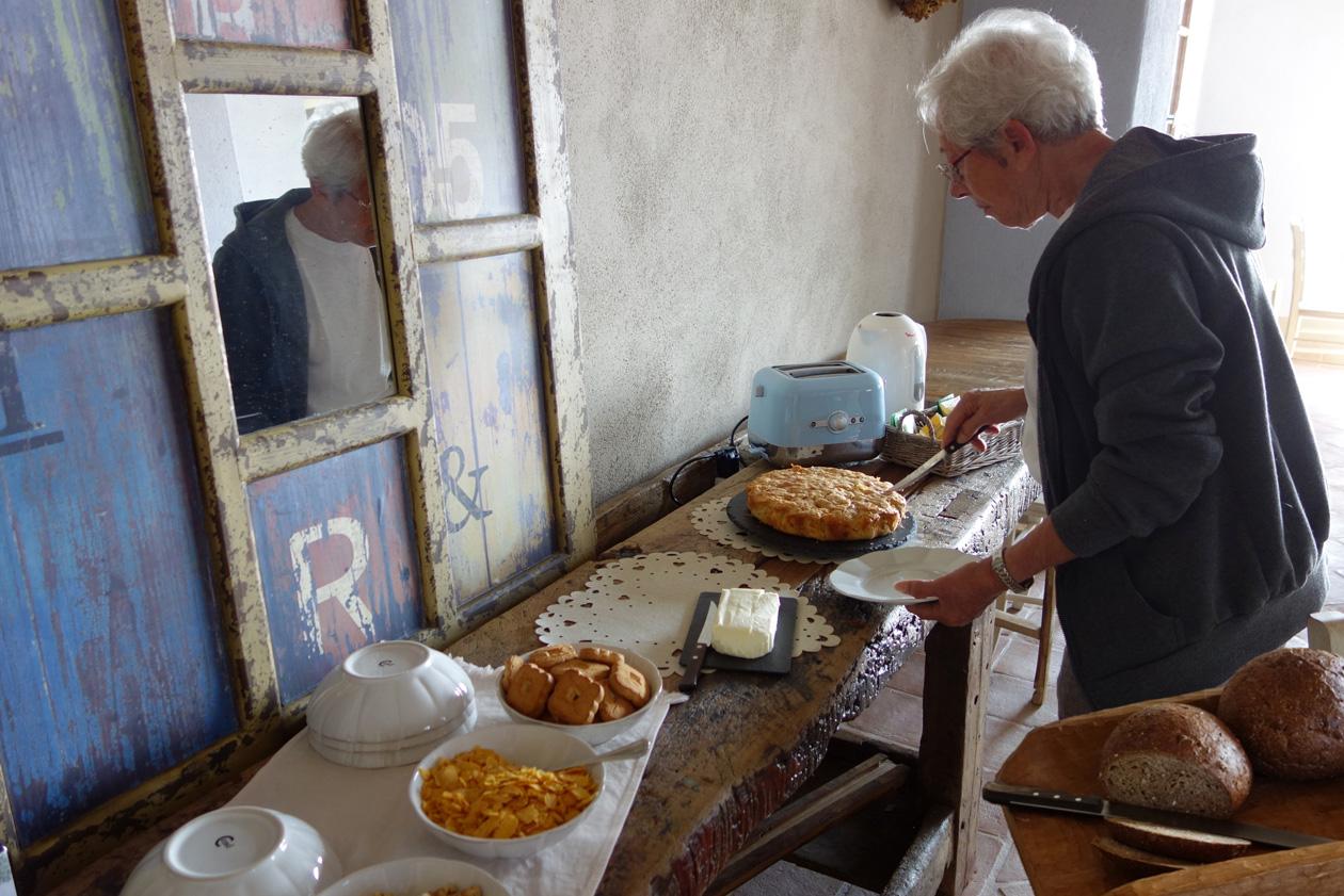 buffet della colazione Locanda degli Ultimi